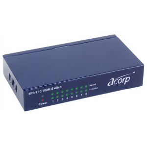 HUB ACORP 10/100 8-port HU8D  dual speed