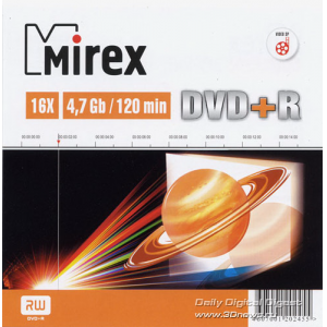 ���� ����������� ������ MIREX DVD+R 16x, 4.7 Gb, Slim Case