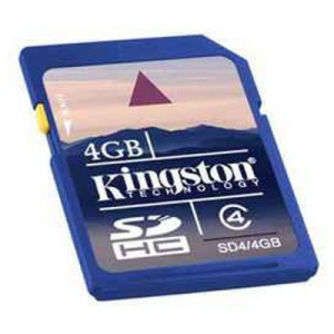 Карта памяти SDHC 4Gb Kingston class 4 SD4/4GB