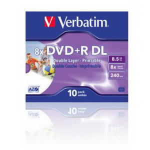 ���� ����������� ������ VERBATIM DVD+R 8x 8,5Gb (10��)  Double Layer Cake Box