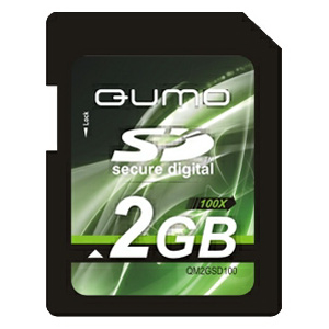 Secure Digital 2Gb QUMO 100X, (QM2GSD100)
