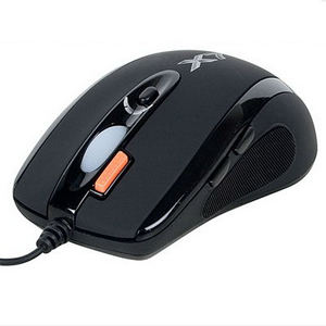 Мышь A4Tech ХL-750MK  (black) USB, 6кн, 1кл-кн, 3600 DPI, mini game mouse