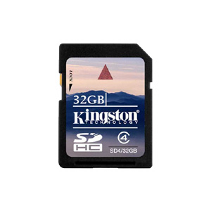 Карта памяти SDHC 32Gb Kingston Class 4 SD4/32GB