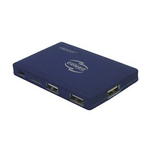 Картридер USB ALL in 1 + HUB 3port USB 2.0, ext. ORIENT (CO-730) SDHC Ready