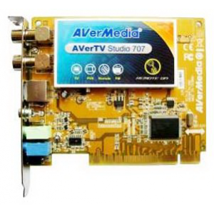 Тюнер TV AverMedia AVerTV Studio 707 {PCI, PAL, SECAM, Stereo, FM , MPEG 1/2/4, RC}