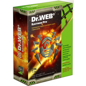 �� ��������� Dr. Web ��������� Security Space PRO + ����������������� ������� Atlansys Bastion �� 12 ���, �� 2 �� BEW-W12-0002-1