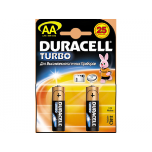 ��������� Duracell LR6 TURBO 2 ��.