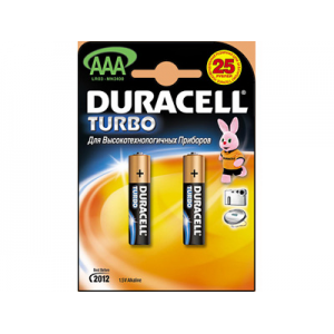 Батарейки Duracell LR03 TURBO 2 шт.