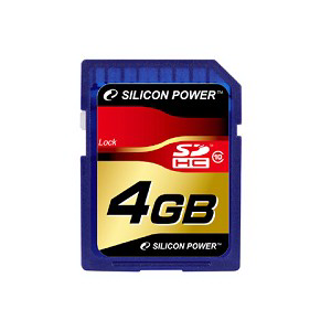 Secure Digital 4Gb Silicon Power, (SP4GBSDHC10/SP004GBSDH010V10), SDHC Class 10