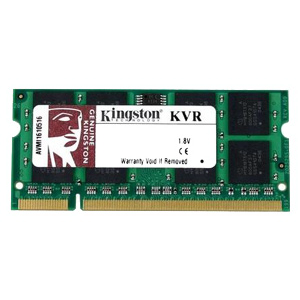Память SODIMM DDR2 800 1GB PC2-6400 Kingston KVR800D2S6/1G