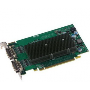 Профессиональная видеокарта Matrox M9125 PCIe x16 PCI-Ex16 512Mb DDR2 2xDVI-I 2x DVI to Analog (HD15) Adapters [M9125-E512F] Retail