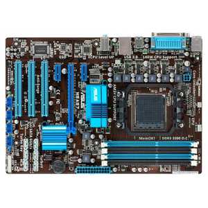 Материнская плата ASUS M5A87 (AMD870 Socket AM3+ PCI-E DDR3-2000 SATA3 RAID 8-ch Audio GLAN) ATX RTL