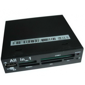 "Картридер All in 1, int. 3.5"" internal MATCH TECH IN-1336P Black (5slots, 1xUSB) OEM"