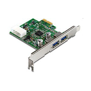 Контроллер PCI-Ex USB3.0 TRENDNet TU3-H2PIE  2-х портовый