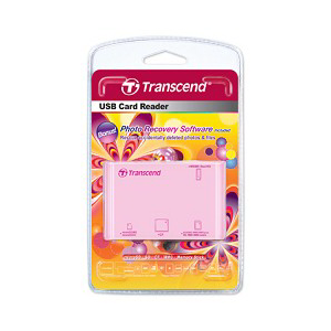 Картридер USB Transcend P8 All in 1 (TS-RDP8R) Pink