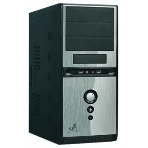 Корпус QoRi-3336 A11 (черно-серый)  (450W) USB/Audio/SATA ATX (front panel metall)