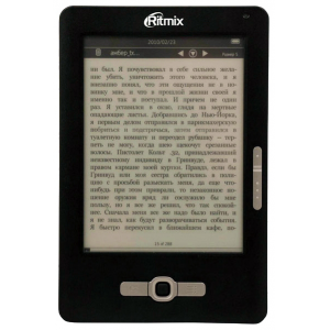 "����������� ����� RITMIX RBK-900 {E-Ink, 6"", 600x800, TXT, fb2, MP3, JPEG }"