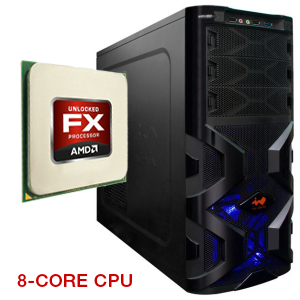 Игровой компьютер Mig X8 FX-8120 3.10 GHz DDR3 8Gb HDD 1000Gb DVD-RW GTX570 1280Mb HD Audio LAN Win7HB