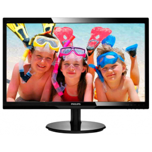 "Монитор 24"" PHILIPS 246V5LHAB/01 Black {LED, 1920x1080, 5ms, 170/160, 1000:1, 250cd/m, HDMI, VGA}"