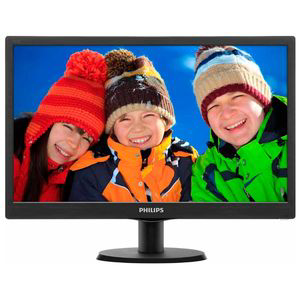 "Монитор Philips 193V5LSB2/10(62) 18.5""  Black {TN (LED), 1366x768, 5ms, 250cd/m2, 1 000:1, (700:1), 90/65, D-Sub, VGA}"