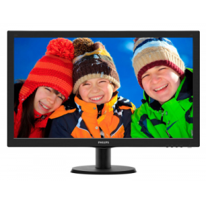 "Монитор 27"" PHILIPS 273V5LHAB/00(01) Black {LED,1920 x 1080, 170/160, 20000000:1, 5ms, 300cd/m, VGA, DVI, HDMI}"