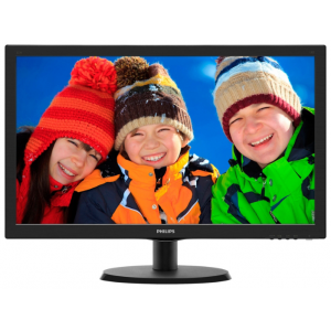 "Монитор Philips 223V5LSB (10/62) 21,5"" Glossy-Black (TN LED 5ms 16:9 10M:1 250cd)"