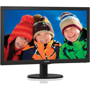 "Монитор Philips 223V5LSB2/10(62) 21,5"" Black (LED, LCD, Wide, 1920x1080, 5 ms, 90°/65°, 200 cd/m, 10M:1)"