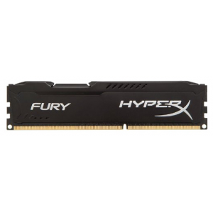 Оперативная память DDR3 1600 8GB (PC3-12800) Kingston HX316C10FB/8 HyperX Fury Series CL10 Black