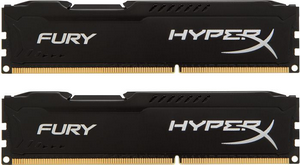 Оперативная память DDR3 1600 16Gb (2 x 8Gb) (PC3-12800) Kingston HyperX Fury Series CL10 Black (HX316C10FBK2/16)