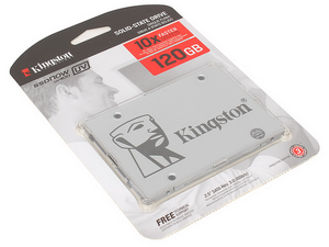 SSD диск 120Gb Kingston UV400 SUV400S37/120G (350/550 Мб)