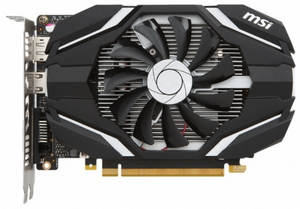 Видеокарта NVIDIA GeForce GTX1050 2Gb MSI OC (1404MHz 2Gb 7008MHz 128Bit GDDR5 DVI HDMI DP)