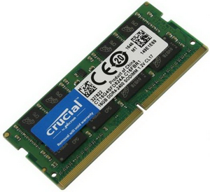Память SODIMM DDR4 2400 16Gb PC4-19200 Crucial CT16G4SFD824A
