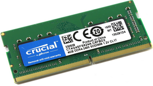 Память SODIMM DDR4 2400 4GB PC4-19200 Crucial CT4G4SFS824A