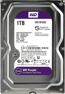 Жесткий диск 1Tb Western Digital Purple WD10PURZ 5400rpm 64Mb